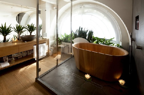 thùng tắm trong phòng