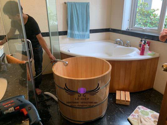 Bồn tắm gỗ cao cấp