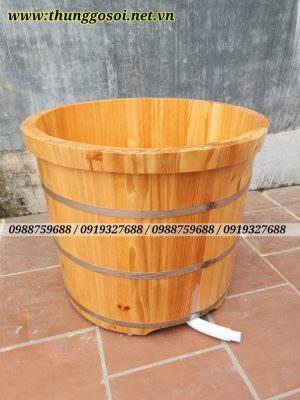 bồn tắm gỗ dáng đứng