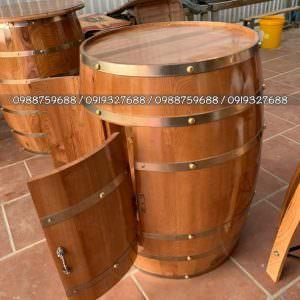 bàn ghế thùng rượu bar