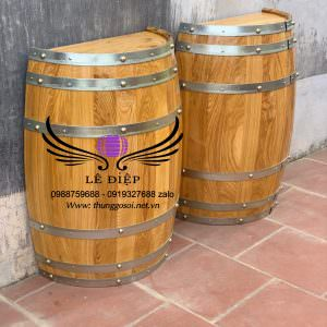 bàn rượu bổ đôi