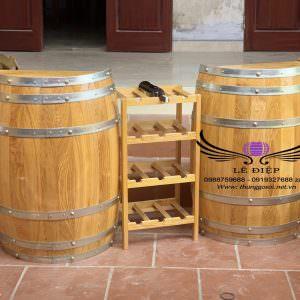 bàn thùng rượu quầy bar