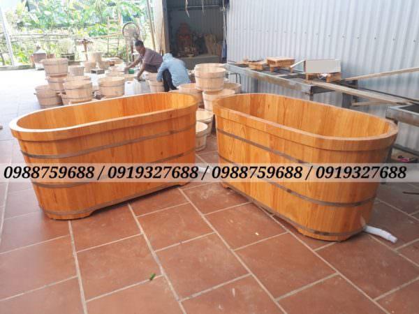 bán thùng tắm gỗ thông