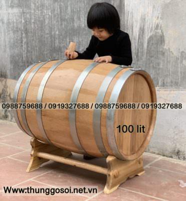 thùng rượu gỗ sồi 100 lit