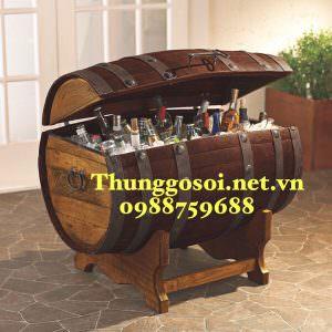Thùng gỗ ướp rượu lạnh