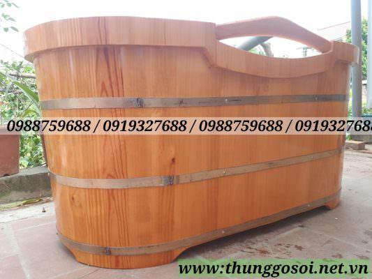 bồn tắm gỗ bo viền 2 lớp chạy xung quanh