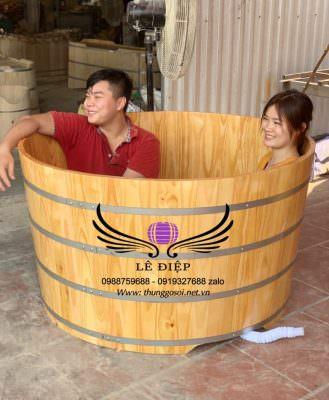 bồn tắm gô cho 2 người