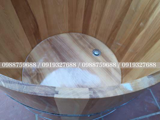 bồn gỗ ghép mộng âm dương