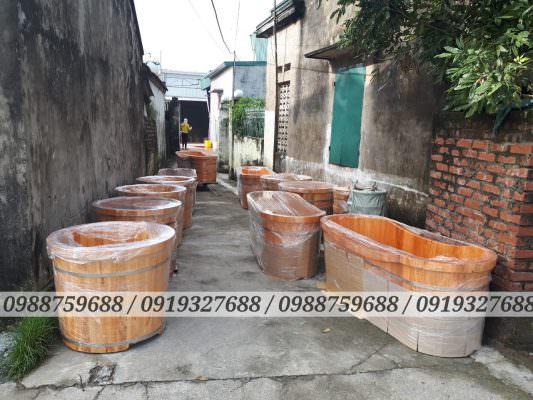 thùng tắm gỗ Đóng hàng trước khi vận chuyển