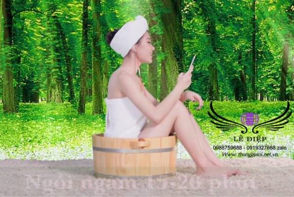 bồn gỗ ngâm phụ khoa