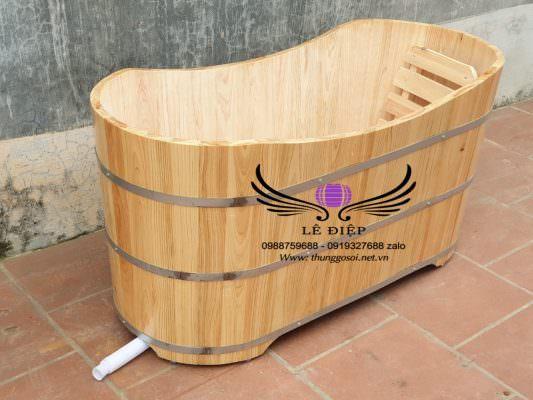 thùng gỗ pơ mu để mộc bên trong