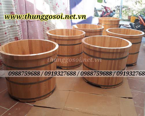 Xưởng sx thùng tắm gỗ cao cấp