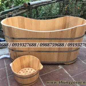 bồn tắm gỗ sồi tại Cần thơ