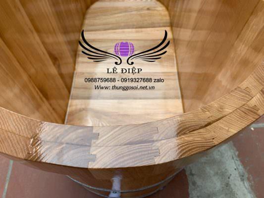 bồn gỗ sồi cao cấp ghép mộng âm dương 7 ly 2 lớp chống co ngót rò rỉ.