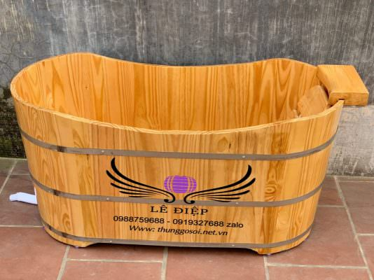 Bồn tắm gỗ thông nhậtn