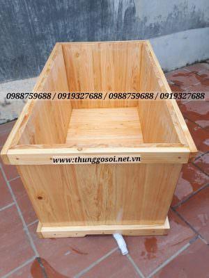 bồn tắm bằng gỗ pơ mu nhật cao cấp