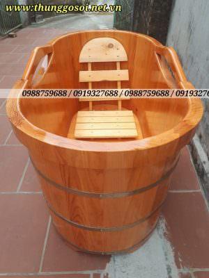 bồn tắm bằng gỗ, bồn gỗ thông