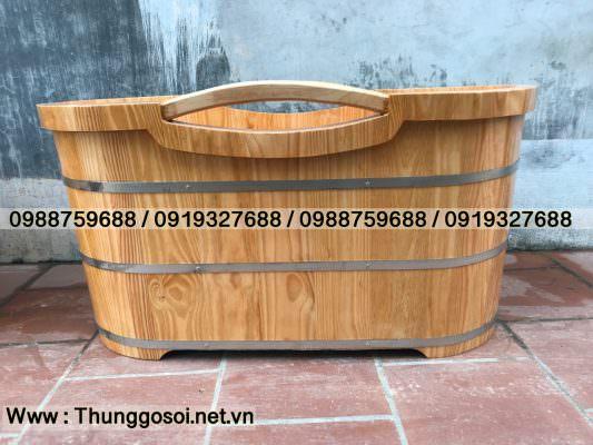 Bồn tắm gỗ thông nhập khẩu