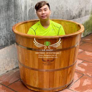 thùng tắm gỗ thảo dược