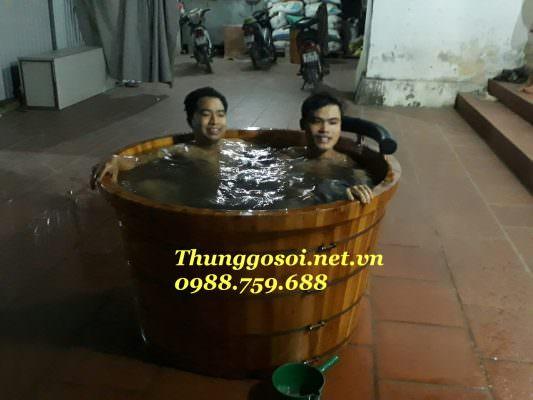 bồn tắm gỗ 2 người