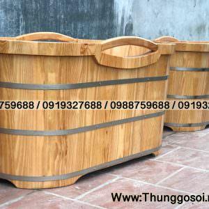 bồn tắm bằng gỗ tại Lê Điệp