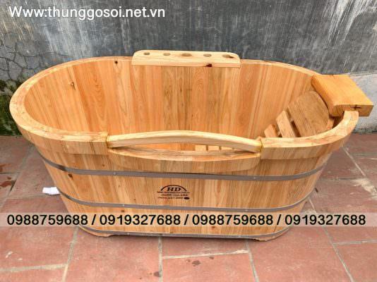 bán bồn tắm gỗ cao cấp, thùng gỗ pơ mu