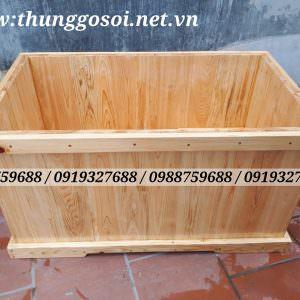 Bán bồn tắm gỗ vuông góc