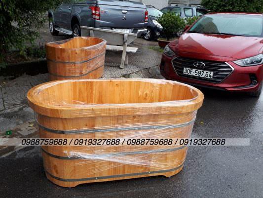 bồn tắm gỗ