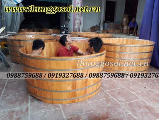 bồn tắm gỗ dành cho 2 người