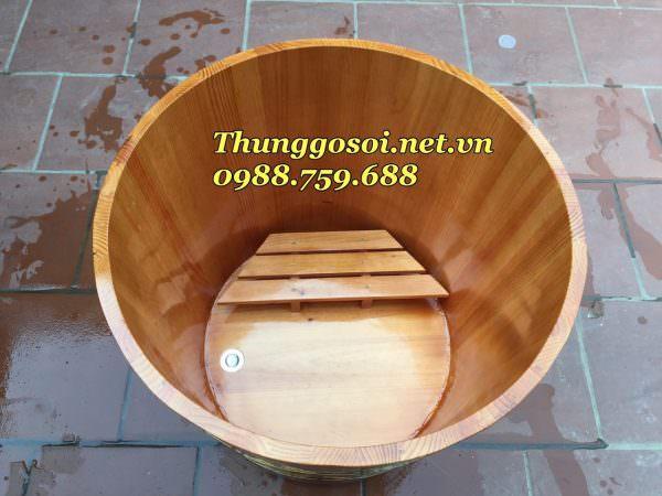 bồn tắm gỗ ngâm thuốc