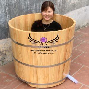 bồn tắm gỗ pơ mu cao cấp