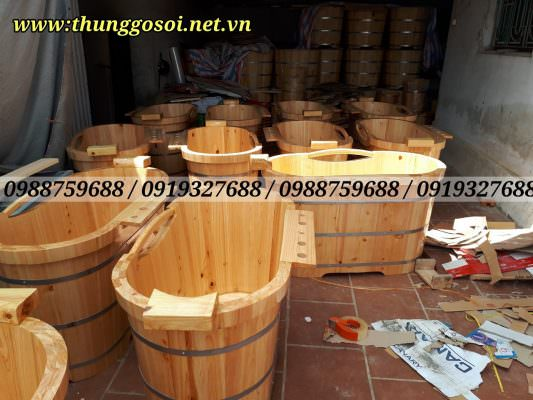 xưởng thùng tắm gỗ