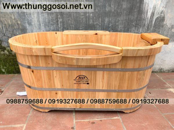 bồn tắm gỗ pơ mu nhật sx tại cssx Thùng Gỗ Lê Điệp