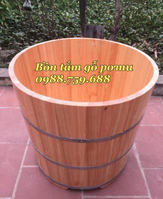 thùng tắm bằng gỗ pơ mu nhật