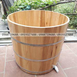bồn tắm gỗ sồi