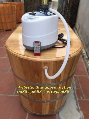 máy xông hơi lắp cuối bồn gỗ