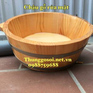 chậu gỗ lavabo