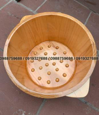 Chậu gỗ ngâm chân massage gỗ thông