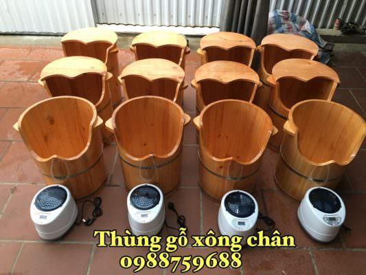 bán thùng xông chân gỗ thông