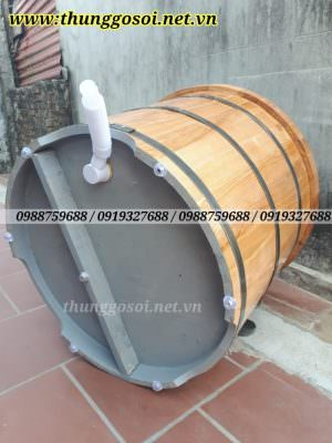 Van xả thùng tắm gỗ sồi
