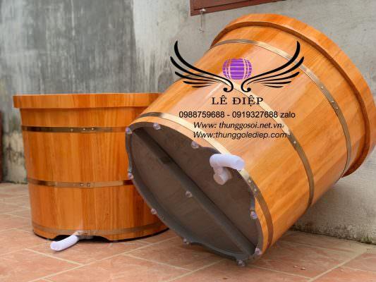 đáy thùng tắm gỗ sơn dầu chống thấm