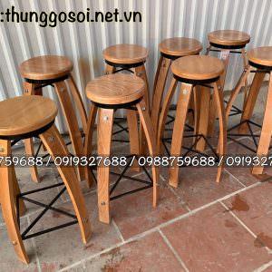 bàn ghế thùng rượu quầy bar