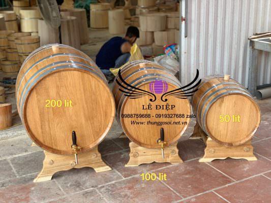 Bom rượu với nhiều kích cỡ khác nhau