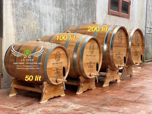bán thùng rượu gỗ sồi giá rẻ