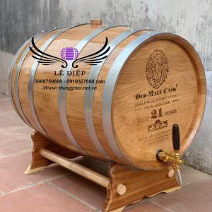 thùng gỗ sồi ủ rượu 100l