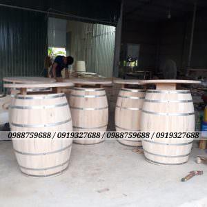 thùng gỗ trang trí gỗ sồi để mộc