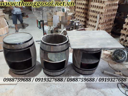 thùng gỗ trang trí được sản xuất tại thùng gỗ lê điệp