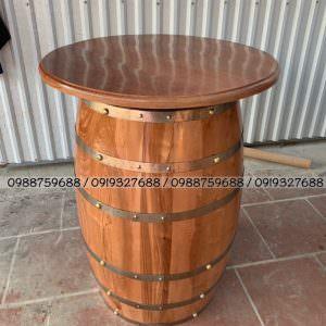 bàn thùng rượu bar