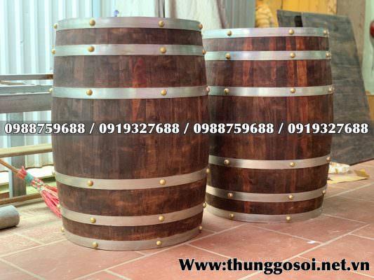 thùng gỗ trưng bày
