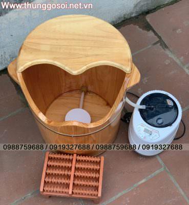 thùng gỗ xông chân
